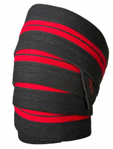 Bodybuilding Knee Wraps - Harbinger 46300 Red Line 78-Inch Knee Wraps for Weightlifting (Pair)