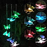 Cheap Topspeeder Solar Powered Color-changing Led Butterfly Wind Chimes Multi Solar Powered Mobile Waterproof Automatic Light Sensor Outdoor Decor