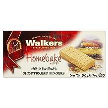 Walkers Homebake Shortbread Fingers (200g) - Pack of 2