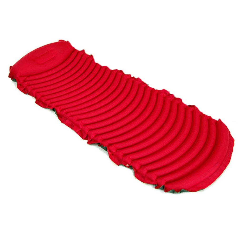 Sleeping pad Outdoor-U-Typ-Umweltschutz Kapazitive Schlafunterlage Einzelgewichtsport Bergsteigen Auto Selbstfahrende Camping-Zelt Feuchtigkeit-Beweis-Matratze,ROT