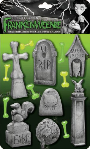 EK Success Brands Disney Frankenweenie Pet Tombstones Sticker Medley