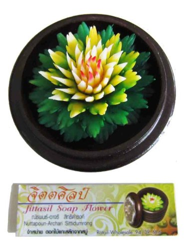 jittasil-thai-hand-carved-soap-flower-4-scented-soap-carving-gift-set-dahlia-in-decorative-wood-case