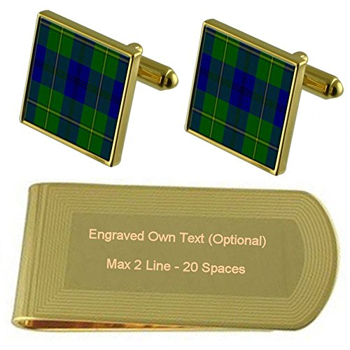 Gold Clip Engraved Tartan Clan Johnstone Tartan Money Tone Clan FRqw7Ux