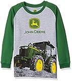 John Deere Little Boys Tractor Tee, Grey/Green, 7