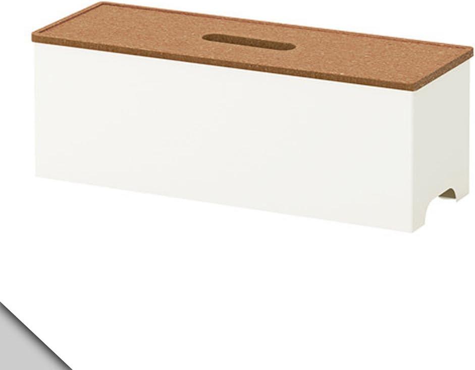 Ikea KVISSLE - Caja de gestión de Cables, Corcho, Blanco: Amazon.es: Hogar