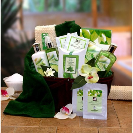 Gift Basket Drop Shipping Holiday Seasonal Personal Care Home Décor Cucumber & Melon Calming Spa Bath & Body Gift Basket