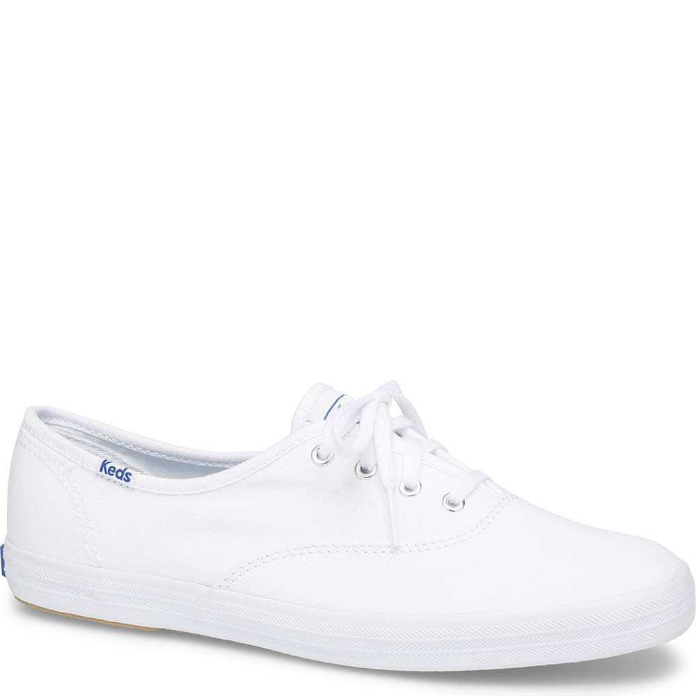 Keds Women's Champion Original Canvas Lace-Up Sneaker, White, 7.5 M US by Keds