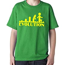Evolution of Lego Funny T-Shirt for kids from XS to XL (Medium)