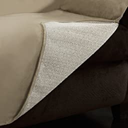 Furniture Fresh - New and Improved Anti-Slip Grip Furniture Protector with Stay Put Straps and Water Resistant Microsuede Fabric (Sofa, Natural)