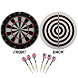 GSE Games & Sports Expert Regulation Size 2-in-1 Dart Board Game Set with Darts (Two Styles Available)