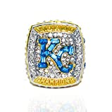 KANSAS CITY ROYALS (Owner David Glass) 2015 WORLD SERIES CHAMPIONS Collectible High-Quality Replica Silver Baseball Championship Ring with Cherrywood Display Box