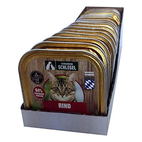MyMenue4Cats Katzenfutter Rind – Nassfutter für Katzen, Glutenfrei, Getreidefrei, Mit hohem Fleischanteil, Hergestellt…
