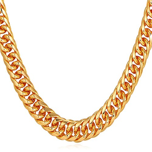 U7 Necklace Jewelry 6MM 9MM Platinum