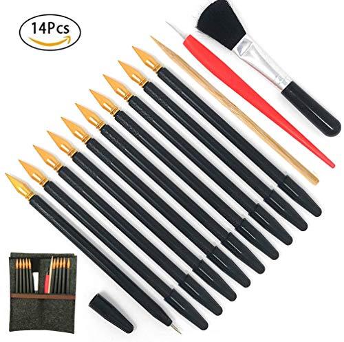 Scratch Tools, Scratch Color Pen Dual Tip Scratch Coloring Stylus Paper Art Set for for Kids Art Supplies 14 PCS ()