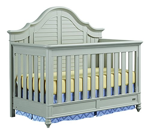 Bassett Baby & Kids Nantucket 4-in-1 Crib, Oyster Grey (Cot Pine)
