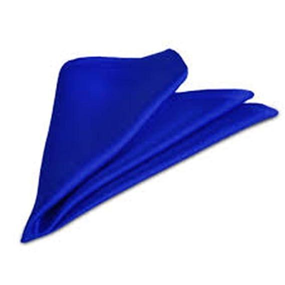 8c0115d91fbff Voici France - Premium Royal Blue (electric blue) Pocket Square microfiber  Men Plain Satin Wedding Handkerchief Pocket Square: Amazon.in: Clothing &  ...