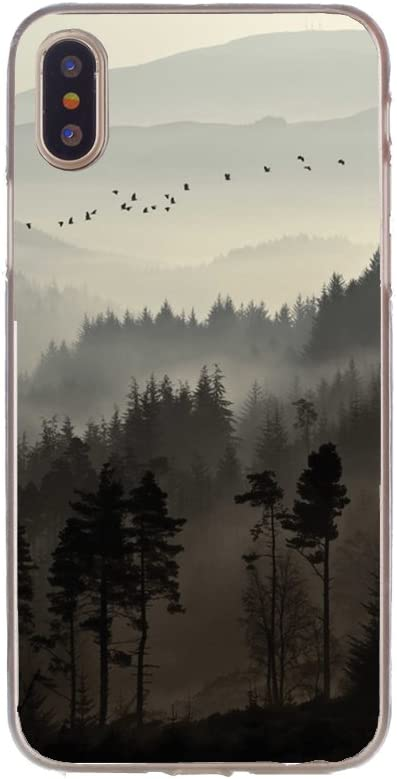 FancyCase Compatible with iPhone Xs Max-New Landscape Style Soft TPU Protective iPhone Xs Max Case by FancyCase (Smokey Forest)
