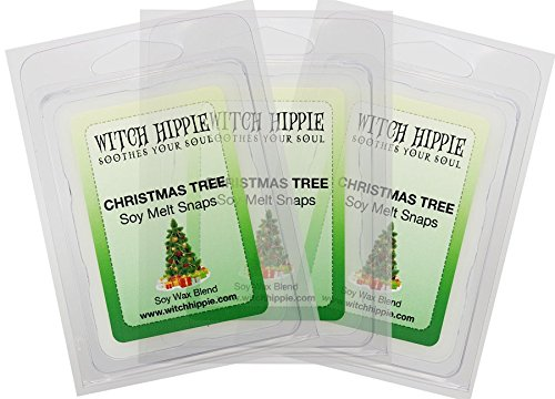 Christmas Tree Scented Wickless Candle Tarts, 3 Pack, 18 Natural Soy Wax Cubes By Witch (Homemade Witch Costumes For Halloween)