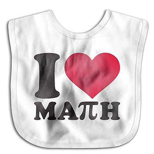 I Love Math With Pi Sign Infant Baby Boys Girls Skin-friendly Saliva Towel - Shipping Usps Rates Canada