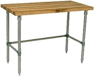 "product image for John Boos SNB17 Work Table 1-3/4"" Maple Top, 96"" W x 36"" D, Stainless"