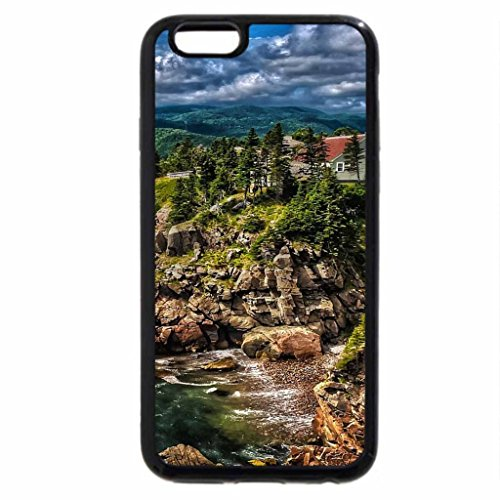 iPhone 6S / iPhone 6 Case (Black) wonderful coastal house on a cliff hdr