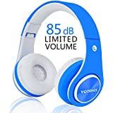 【Upgrade Version】Votones Wireless Headphones for Kids Over Ear Foldable Bluetooth Headset with Microphone for Boys Girls Hands Free Calling,Compatible with Smartphones PC Tablet-Blue