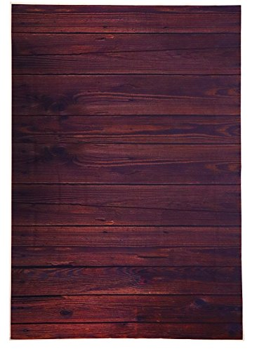 Cheap  Photo Backdrop - Wooden Photo-Booth Background with Dark Wood Design, Brown Photography..