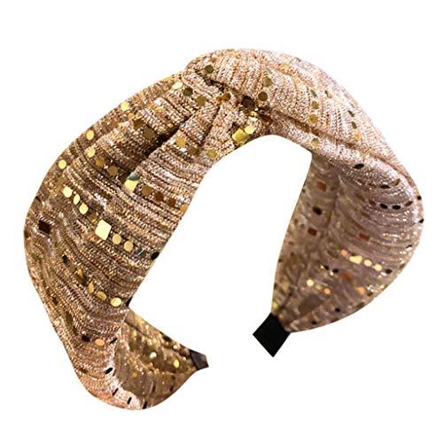 Elastic Rhinestone Beaded Women Headbands Bohemian Floral Style Elastic Hair Hoop for Girls Fashion Hair Accessories Rose Gold
