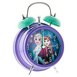 Disneys Frozen Anna & Elsa Light Up Twin Bell Alarm Clock