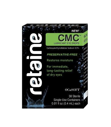 Retaine CMC Sans conservateur gouttes oculaires lubrifiantes (30 récipients à usage unique) 0,01 Fl oz chaque