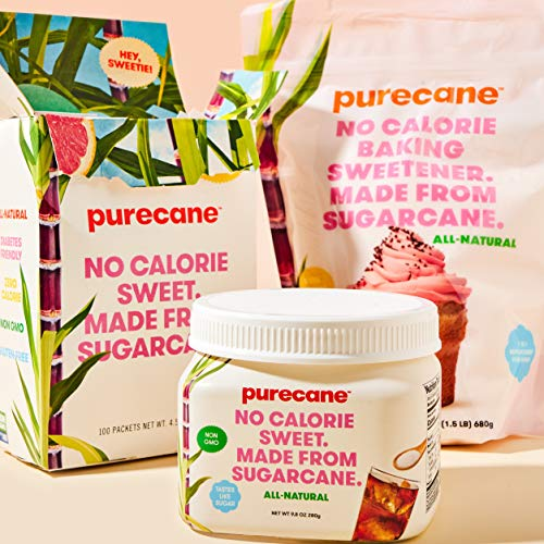 Purecane Sugar Substitute Baking Sweetener   Zero Calorie   Made from All Natural Sugar Cane   Diabetes-friendly   Keto-friendly   Gluten-free   24 Ounce Pouch 9