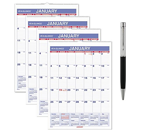 AT-A-GLANCE Monthly Wall Calendar - January 2018 - December 2018 - 8