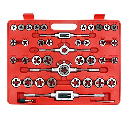 Zoostliss 110 Piece Bearing Steel Tap and Die Set Tungsten Steel Titanium Sae and Metric Tools by Zoostliss (Image #1)