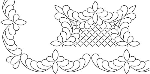 Feather Stencil Quilt Block (Sten Source Quilt Stencils By Barbara Chainey-3