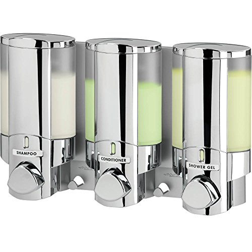 Better Living Products 76345-1 Aviva Three Chamber Dispenser, Chrome by Better Living