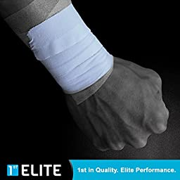 Professional Grade Athletic Tape by 1st Elite- Pro Athletes Coaches Trainers in Gymnastics Boxing Basketball Hockey Soccer Crossfit MMA Martial Arts Football Sports & Medical First Aid