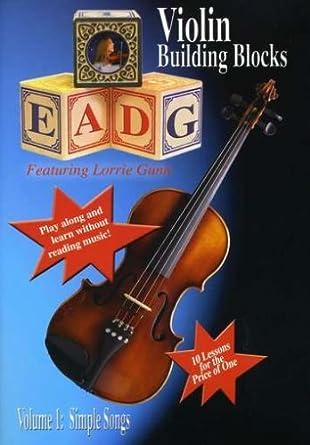 Amazon com: Violin Building Blocks Volume 1 Simple Songs