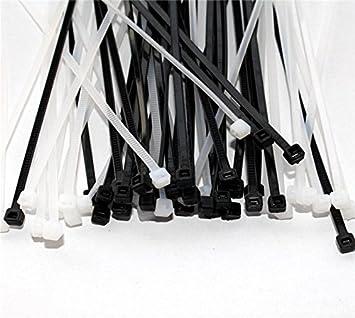 Westeng 100pcs Lien en Plastique Autobloquant Attaches de C/âble Lien Nylon Zip Cable Ties Blanc
