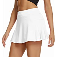 Sobrisah Women's Athletic Skort with Pocket Lightweight Sport Skirt with Shorts for Yoga Workout Running Tennis Golf