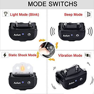 Shock Collar for Dogs,Dog Training Collar with Remote,LCD Display, 1000 Foot, Rechargeable, Waterproof Electric No Bark Dog Collar with Beep/Vibration/Shock, for all Size Dogs