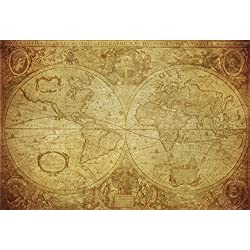 Wallmonkeys Vintage Map World 1630 Wall Mural Peel and Stick Graphic (36 in W x 24 in H) WM354727