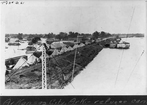 Photo: Arkansas City, AR,Desha County,Refugee camp,1927 Flood (List Of Cities And Counties In Mississippi)