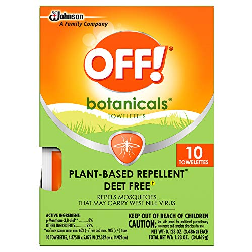 OFF! Botanicals Insect Repellent Towelettes (10 ct)