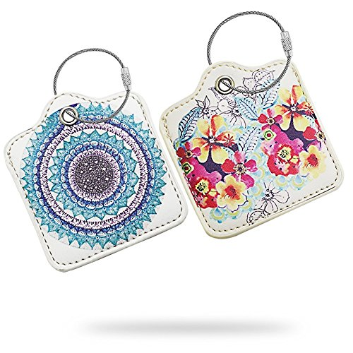 Cow Tile - for Tile Slim Finder - Key Finder. Phone Finder. Anything Finder. Tile Mate Case Cover with Keychain. Tile Mate Skin PU Leather Protection -Galaxy,Flower