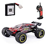 100 mph battery for rc cars - GPTOYS S912 33MPH 2.4GHz 2WD Off Road Waterproof Monster RC Truck, 1/12 Scale - Red (3rd Version)