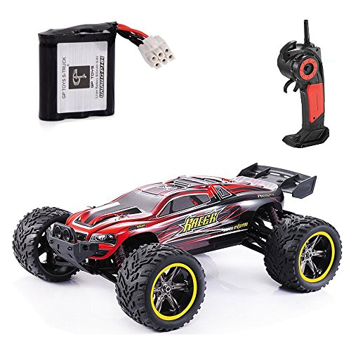 GPTOYS S912 33MPH 2.4GHz 2WD Off Road Waterproof Monster RC Truck, 1/12 Scale - Red (3rd Version)