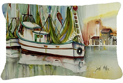 picture of Ocean Springs Shrimper Canvas Fabric Decorative Pillow JMK1068PW1216