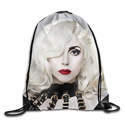 BiXiShop Lady Gaga Poster Drawstring Backpack Sack Bag