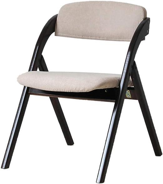 Muebles de Oficina para el hogar Sillas Plegables de Madera Respaldo Plegable Silla de Comedor Silla