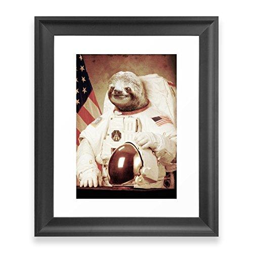Society6 Sloth Astronaut Framed Print Scoop Black (Astronaut Framed)